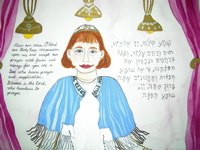 bat mitzvah girl in kippah and tallis