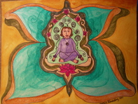 lotus position butterfly