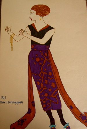 art deco evening gown