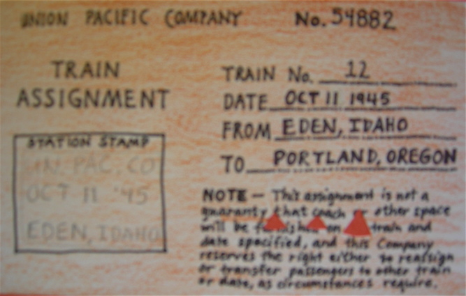 train assignment ticket